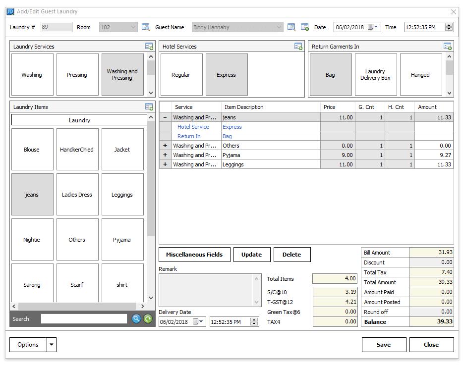 Screenshots - Preview of eZee FrontDesk Hotel Software